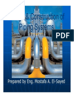 Design & Construction of Piping Systems