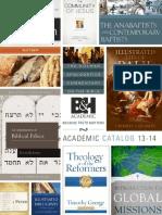 B&H Academic Catalogue 13-14