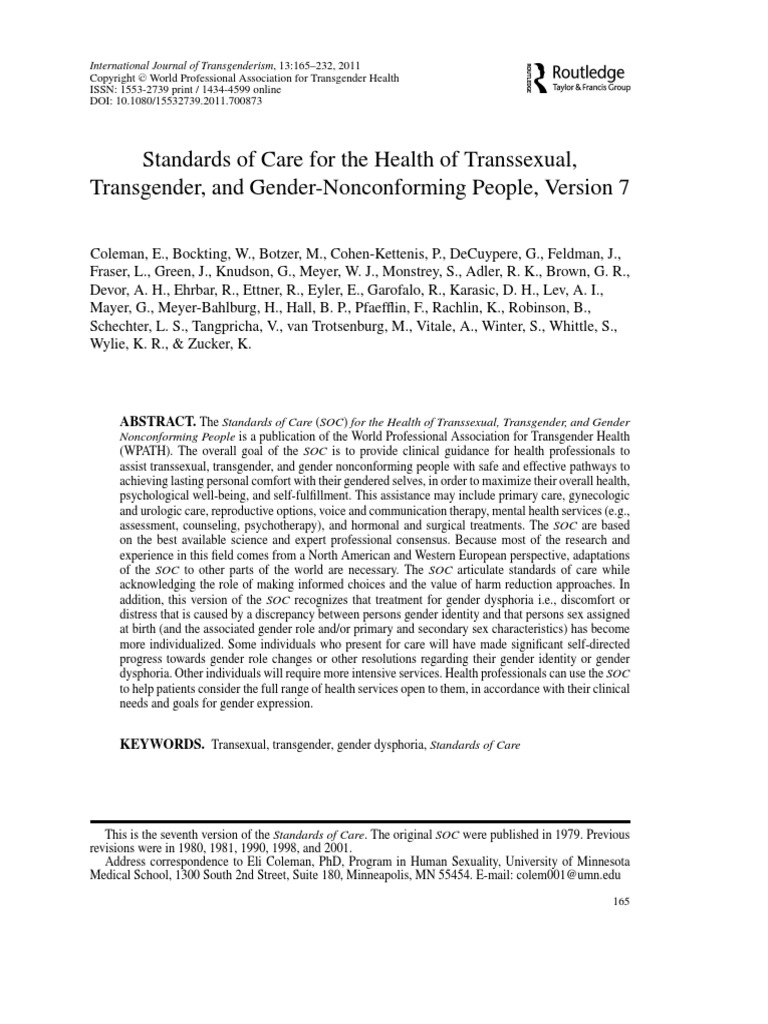2011 - SOC-7 - Standards of Care for the Health of Transsexual ...