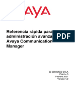 Administration Avanzada Avaya Communication Manager