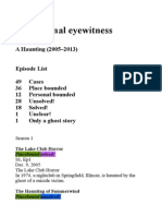 Paranormal Eyewitness Accounts
