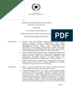 Undang Undang Nomor 21 Tahun 2011 Tentang Otoritas Jasa Keuangan