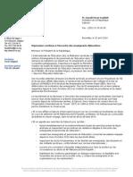 Nouvelle lettre de Protestation de l'I.E