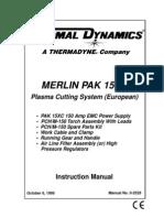 Merlin Pak 15XC European Instruction Manual