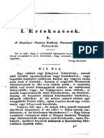 Sombori József - A Hajdani Nemes Székely Nemzet Áldozó Poharáról 1835.