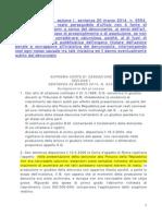 Anza' Salvatore Ciampolillo Giuseppe Corte Di Cassazione 1 Sez Sentenza 20 Marzo 2014 n 6554 (1)