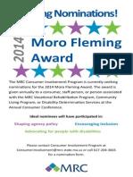 Moro Fleming Award Ad 2014
