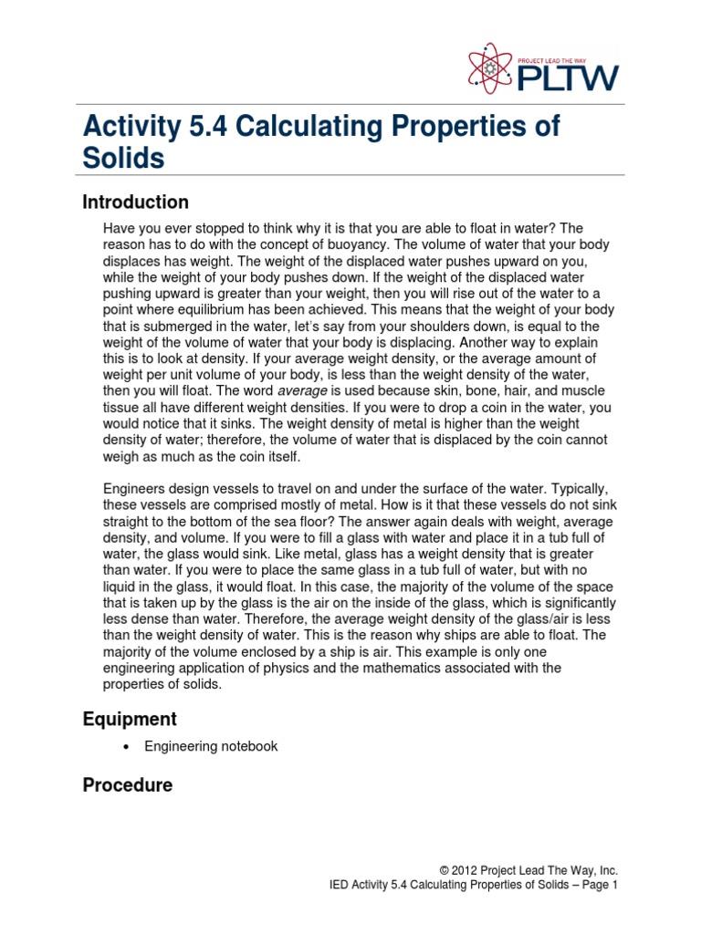 5 4 A Calculatingpropertiessolids Buoyancy Density