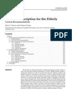 Exercise Prescription for Elderly