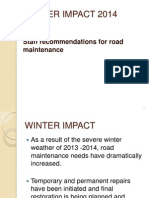 Winter Impact 2014 - April 16 Public Works meeting