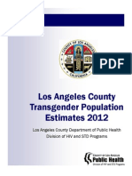2012 - Los Angeles County Transgender Population Estimates