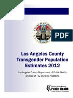 2012 - Los Angeles County Transgender Population Estimates