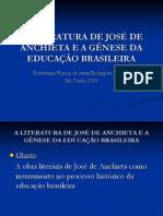 A LITERATURA DE JOSÉ DE ANCHIETA E A apresentação comparativa