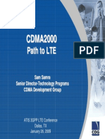 CDMA Evolution Path to LTE