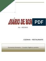 Diário de bordo-Restaurante