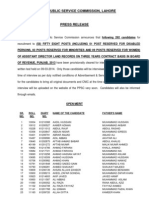 Press Note Assistant Director Land Records (6b2013)