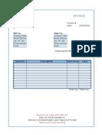 Flexible Invoice (Online Form)