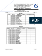 List of Student in Group a,B,C in DTS