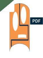 MÁSCARA ROBÓTICA naranja loca