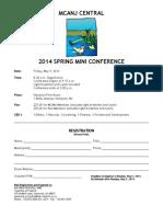 MCANJ CENTRAL Spring Mini-Conference Registration Form - 2014