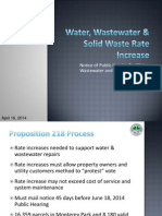 Water, Wastewater and Solid Waste Rate Increases