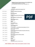 FDA Public Hearing Speaker Schedule