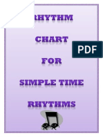 Music Rhythm Chart for Us A