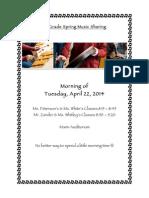 3rd Grade Spring Music Sharing Invite