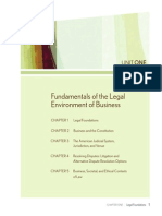 Fundamentals of the Legal Environment of Business