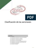 Clasificación de las aeronaves teed