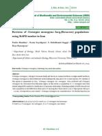 Revision  of Crataegus  monogyna Jacq.(Rosaceae) populations using RAPD marker in Iran