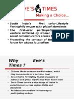 Eve's Times Presentation Ad- 21.8.09