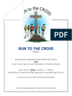Flyer, information and entry form for the Easter 5K Run to the Cross April 19, 2014 at Taylorsville United Methodist Church