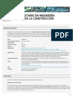 Máster universitario en Ingeniería Estructural y de la Construcción (ETSECCPB, EC, RMEE)