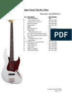 Classic Vibe 60's J Bass- Service