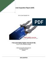 F-35 2013 SAR