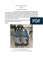 ME 361 Pump Characteristics