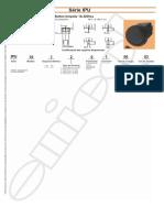 Interruptor Push Button Unipolar Atuador Opaco Esferico Pequeno
