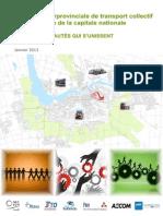 Stratégie interprovinciale du transport collectif pour la région de la capitale nationale.