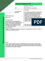 Human Capital Metrics Handbook Average Employee FTE Metric