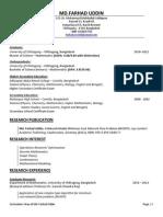 Farhad Academic CV