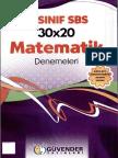Güvender Yayınları 8. Sınıf 30x20 Matematik Denemeleri