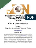 Guía de Implementación para el Código Internacional para el manejo de Cianuro - IIMC