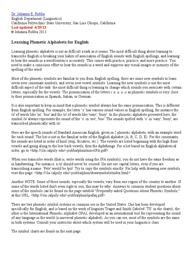 Phonsym Learn English English Language Alphabet