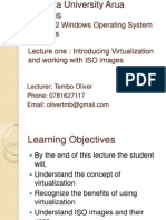 Lecture One - Virtualization and ISO Image Management