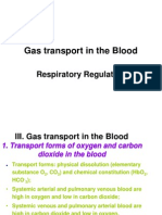 Gas Transport and Respiratory Regulation 2013