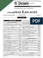 Reglamento de Seguridad y Salud en el Trabajo, Decreto Supremo No 009-2005-TR del 28 de octubre del año 2005.