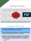 standards for teaching
