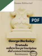 Berkeley, George - Tratado Sobre Los Principios Del Conocimiento Humano.