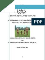 PLANEACIÓN LITERATURA DE LA SEXUALIDAD